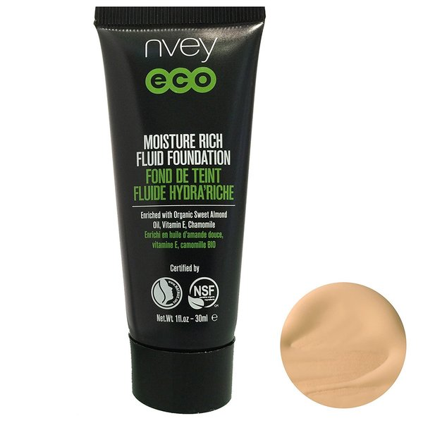 Nvey Eco Moisture Rich Fluid Foundation Shade 515 Golden Honey