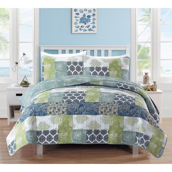 Zahira Collection 3-Piece Printed Quilt Set