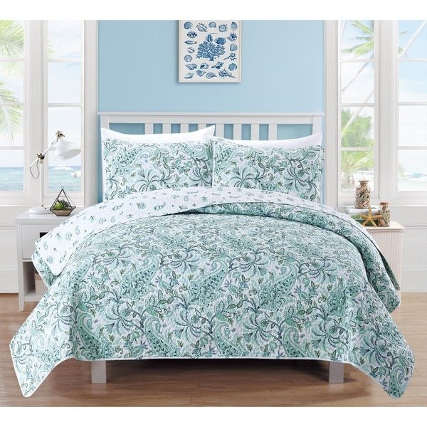 Home Fashion Designs Valencia Collection 3-Piece Printed Quilt 3 Piece Set