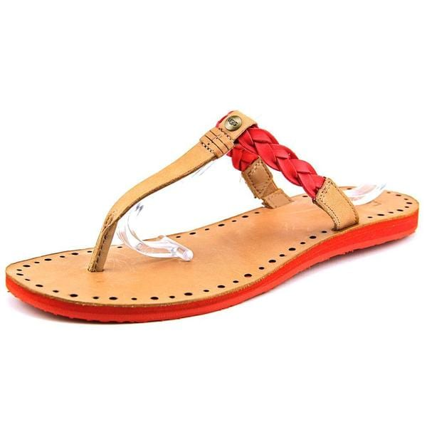 Ugg Australia Women's Bria Red Leather Sandals