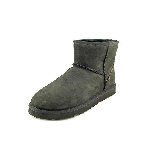 Ugg Australia Men's M Classic Mini Deco Black Leather Boots
