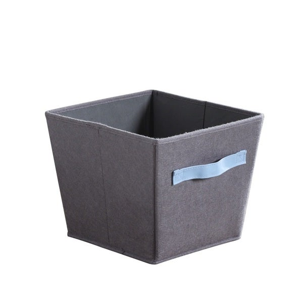 3 Pack Grey/ Blue Felt Storage Bins