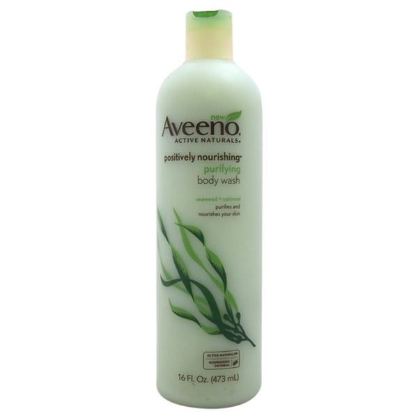 Active Naturals Positively Nourishing Purifying Body Wash - Seaweed + Oatmeal by Aveeno for Unisex - 16 oz Body Wash