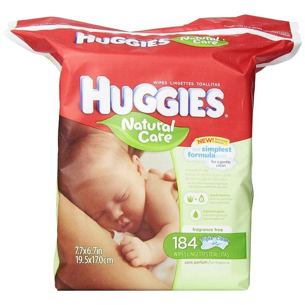 Huggies Natural Care 184-count/552 Total Fragrance-free Baby Wipes