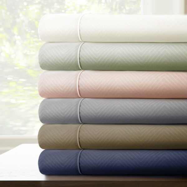 4-Piece Bold Chevron Embossed Sheet Set