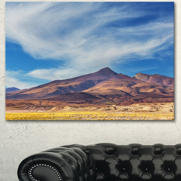 Designart 'Bright Argentina Mountain Region' African Landscape Art Print Canvas