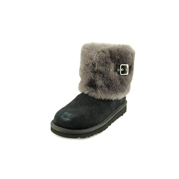 Ugg Australia Girls' Ellee Black Leather Boots