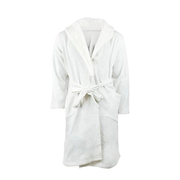 Ambriella Women's Off-white Cotton/Polyester Luxurious Bathrobe