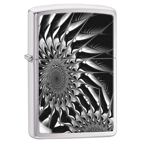Zippo Black & White Fractal Windproof Lighter