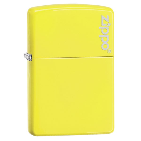 Zippo Neon Yellow Logo Windproof Lighter