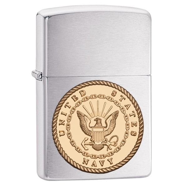 Zippo Navy Emblem Windproof Lighter