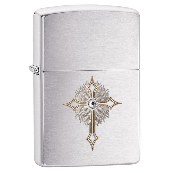 Zippo Crystal Cross Windproof Lighter