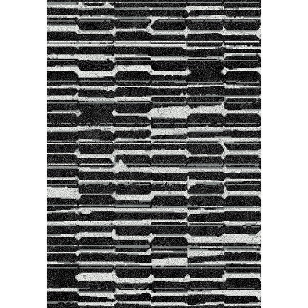 Dynamic Rugs Flair Black Polypropylene Machine-made Rug (5'3 x 7'7)