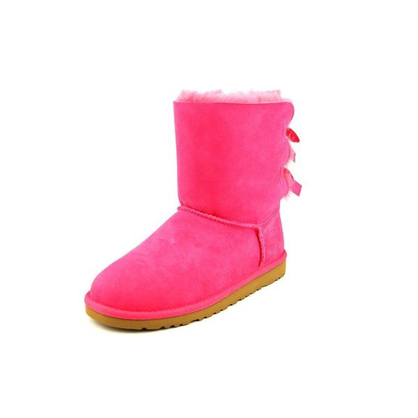 Ugg Australia Girls' Bailey Bow Regular Suede Boots