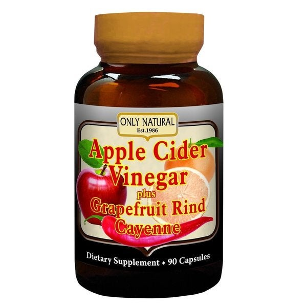 Only Natural Apple Cider Vinegar plus Grapefruit Rind Cayenne Capsules (90 Capsules)