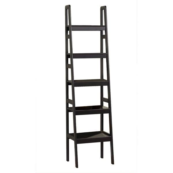 Lewis Hyman 5-tier Ladder Accent/Storage Shelf Black Finish