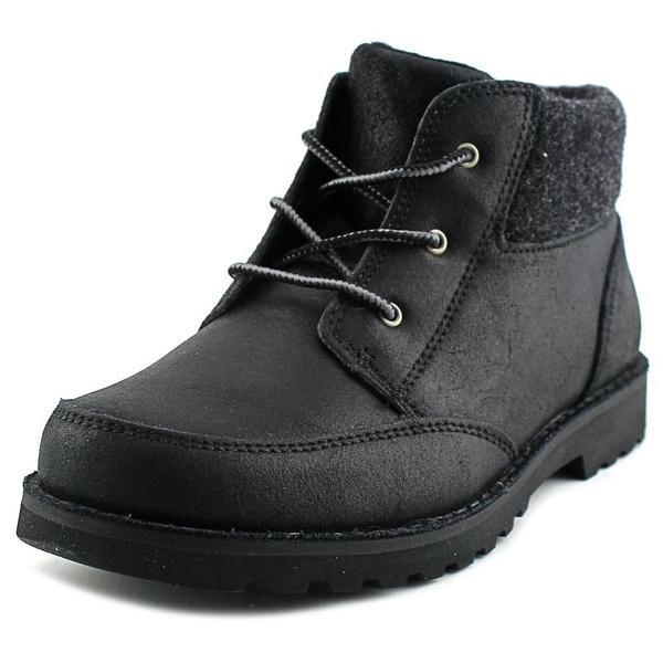 Ugg Australia Boys' Orin Black Leather Boots