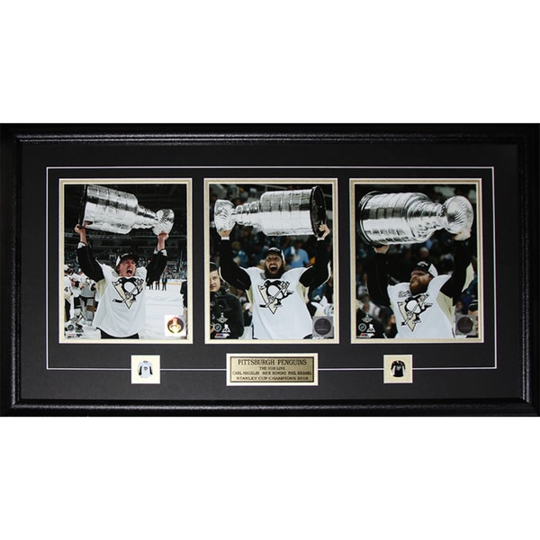 2016 Pittsburgh Penguins HBK Line Hagelin Bonino Kessel Stanley Cup Framed 3-photo Set 21769926