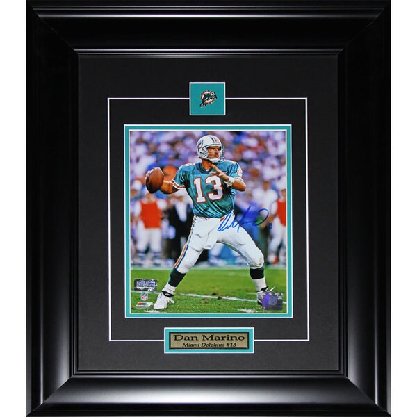 Dan Marino Miami Dolphins 8-inch x10-inch Signed Framed Photograph