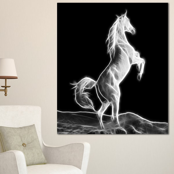 Designart 'Large White Horse Sculpture' Extra Large Animal Artwork 21771869