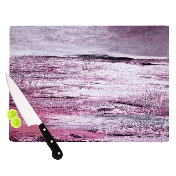 Kess InHouse Iris Lehnhardt 'Sea' Pink Tempered Glass Cutting Board