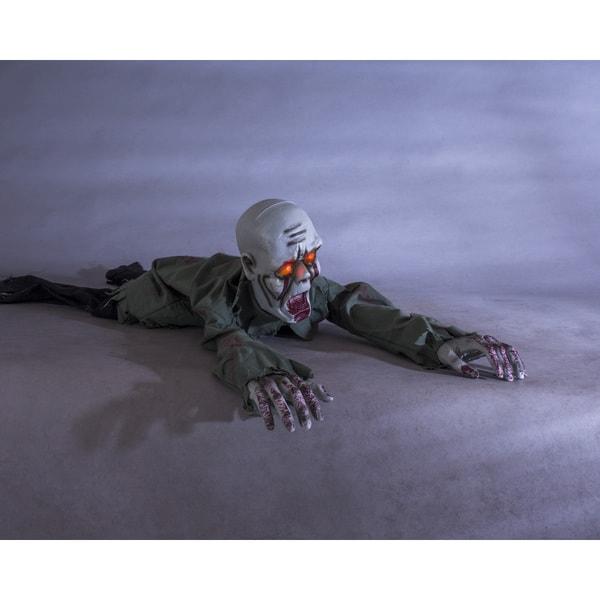 Crawling Zombie Motion Sensor Halloween Decoration