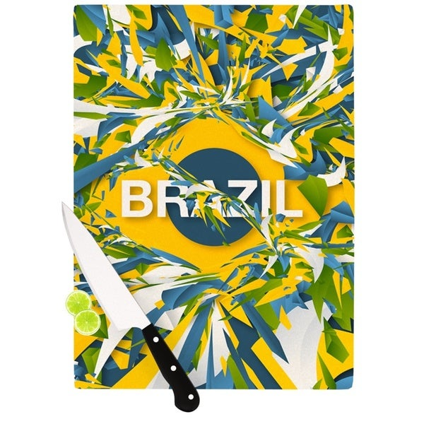 KESS InHouse Danny Ivan 'Brazil' World Cup Cutting Board 21778688
