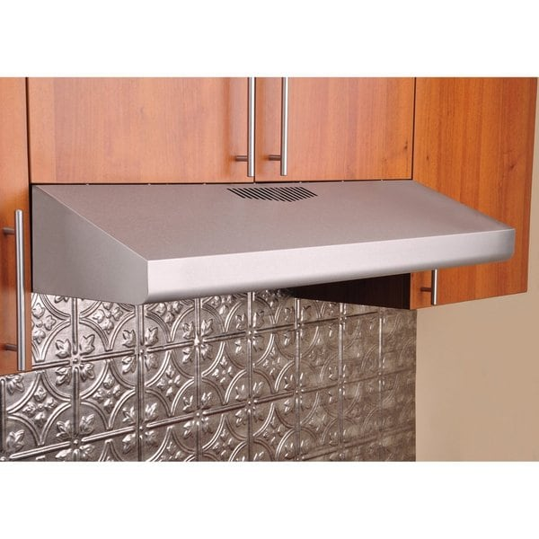 KOBE Brilla CHX3030PDS-GL Under Cabinet Range Hood 400 CFM, Push Button, Glass Parametric Panel with LED Lights, 30-Inch
