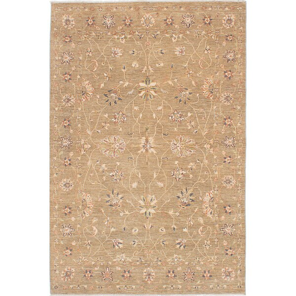 eCarpetGallery Chobi Twisted Ivory Hand-knotted Silk/Wool/Cotton Rug (5'10 x 8'10) 21779890