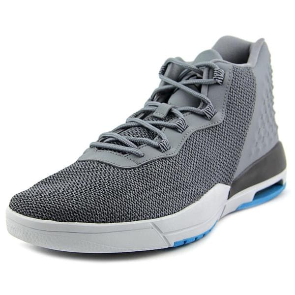 Jordan Men's Academy Grey Leather Athletic Shoes