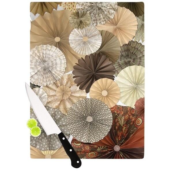 KESS InHouse Heidi Jennings 'Dusty Road' Brown Tan Cutting Board