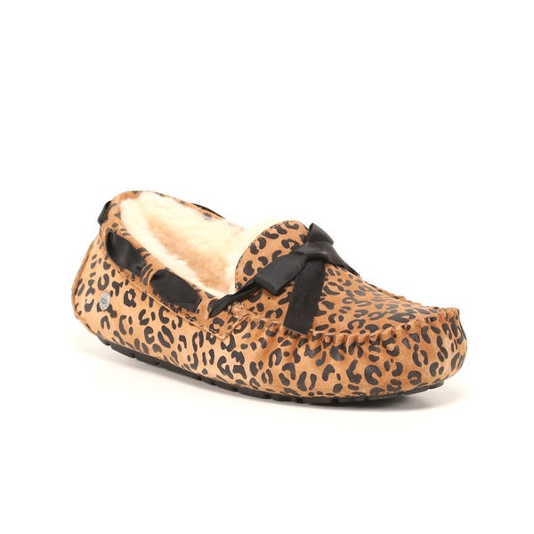 UGG Australia Women's Leopard Bow Dakota Slippers