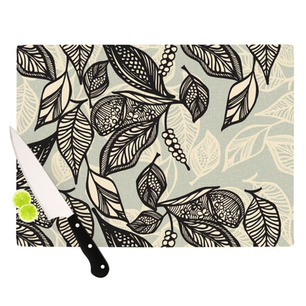 Kess InHouse Gill Eggleston 'Java Leaf' Cutting Board