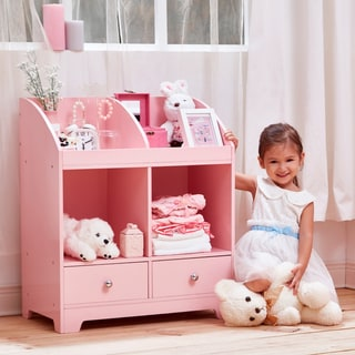 Teamson Kids - Little Princess Cindy Toy Cubby Storage - Pink