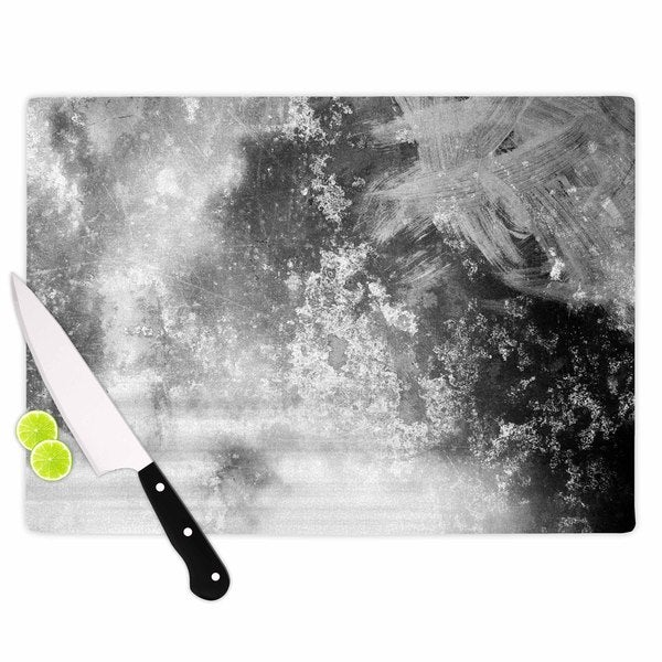 KESS InHouse Chelsea Victoria 'Black Ice' Grey Black Cutting Board
