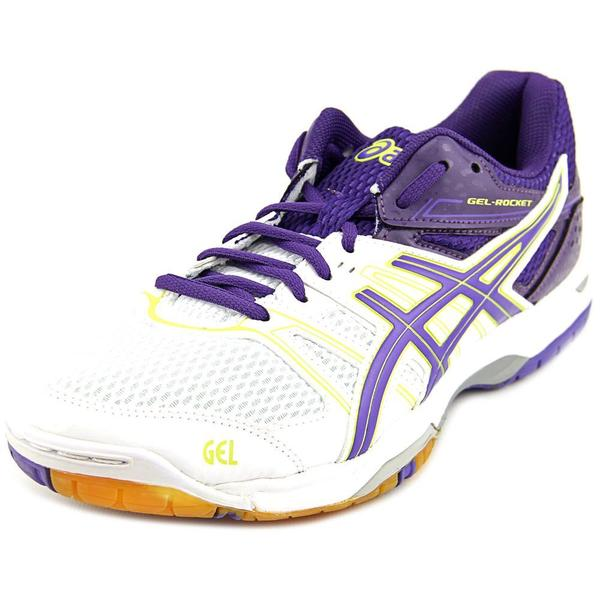Asics Women's 'Gel Rocket 7' White Synthetic Athletic Shoes