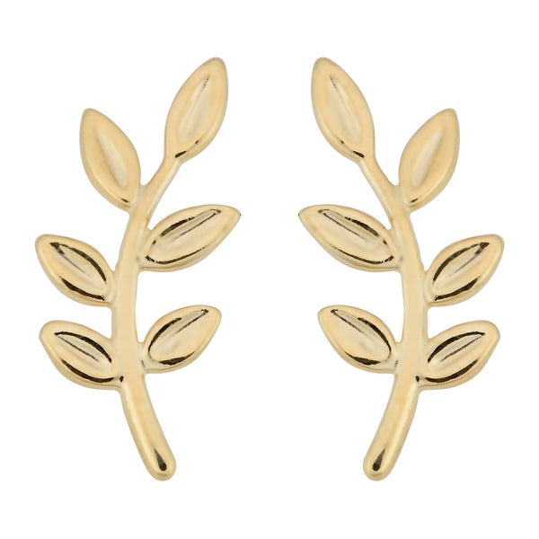 Fremada Italian 10k Yellow Gold Olive Branch Earrings 21792346