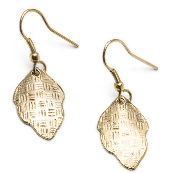Gold New Leaf Earrings