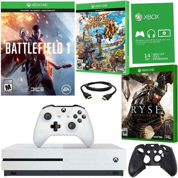 Xbox One S 500GB Battlefield 1 Bundle With Ryse and Accessories 21792881