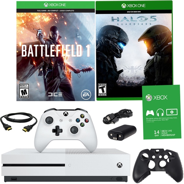 Xbox One S 500GB Battlefield 1 Bundle With Titanfall, Halo 5 and Accessories 21792891