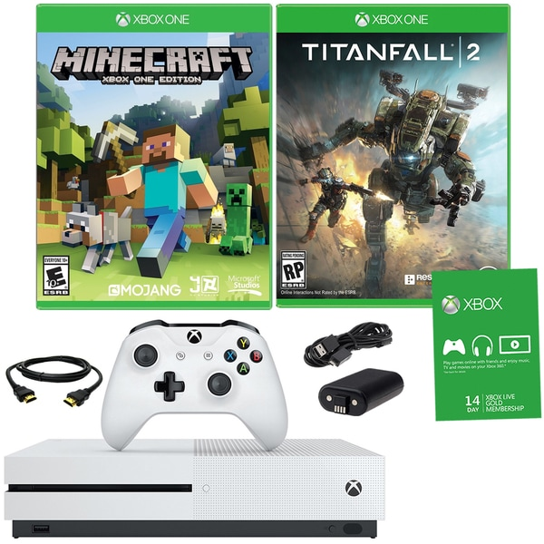Xbox One S 500GB Minecraft Bundle With Titanfall 2 and Accessories 21792908