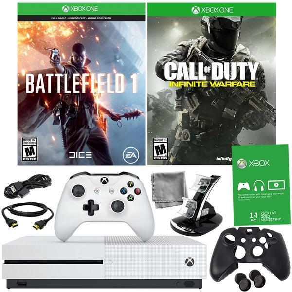 Xbox One S 500GB Battlefield 1 Bundle With COD: Infinite Warfare and Accessories 21792935