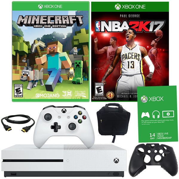 Xbox One S 500GB Minecraft Bundle With NBA 2K17 and Accessories 21793506