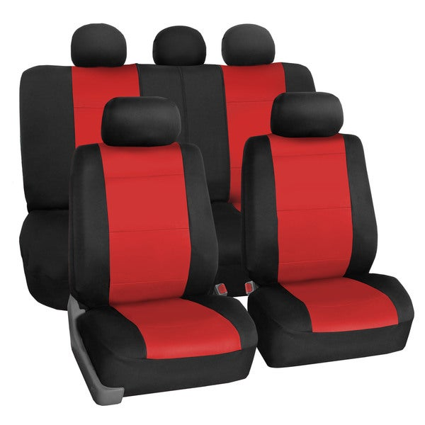 FH Group Neoprene Water Resistent Seat Covers Red (Full Set)