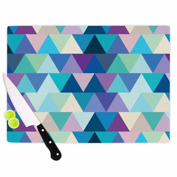 KESS InHouse Draper 'Crystal' Purple Geometric Cutting Board