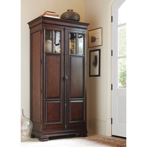 Red Wood Tall Cabinet