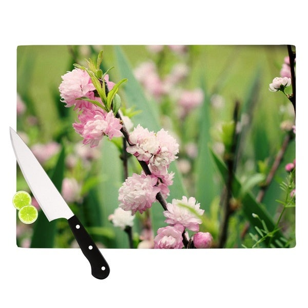 """Kess InHouse Beth Engel """"The Best Things in Life Are Pink"""" Green Pink Cutting Board 21796272"""