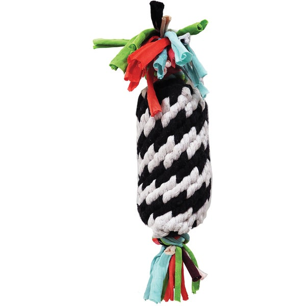 Super Scooch Rope Gummer With Squeaker Dog Toy 11""