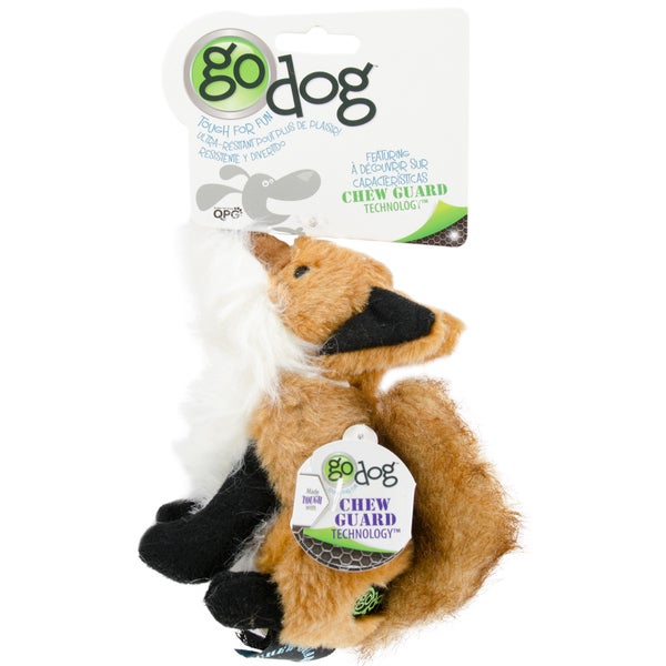 GoDog Wildlife Fox With Chew Guard Small