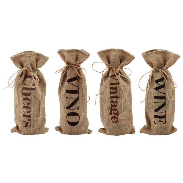 True 2889R Message In A Bottle Jute Sacks Assorted Designs